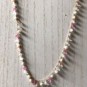 """16"""" pearl & crystal necklace"""